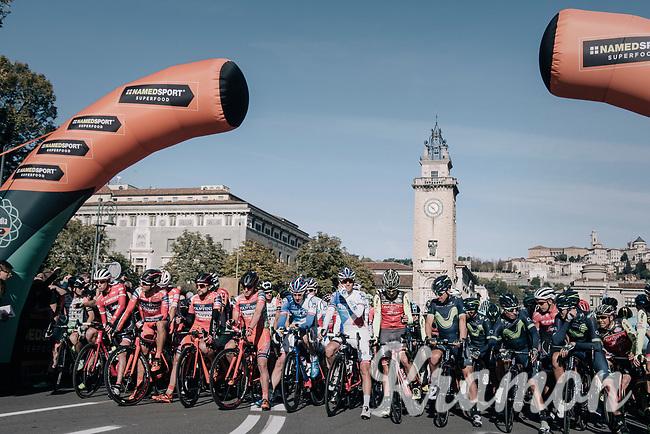 ready for the 111th Il Lombardia 2017 from Bergamo to Como (ITA) 247km
