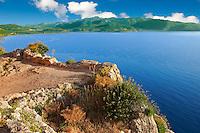 Monemvasia (  ) Byzantine Island catsle town plateau.   Peloponnese, Greece