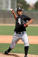 Gregory Infante  -  Chicago White Sox - 2009 spring training.Photo by:  Bill Mitchell/Four Seam Images