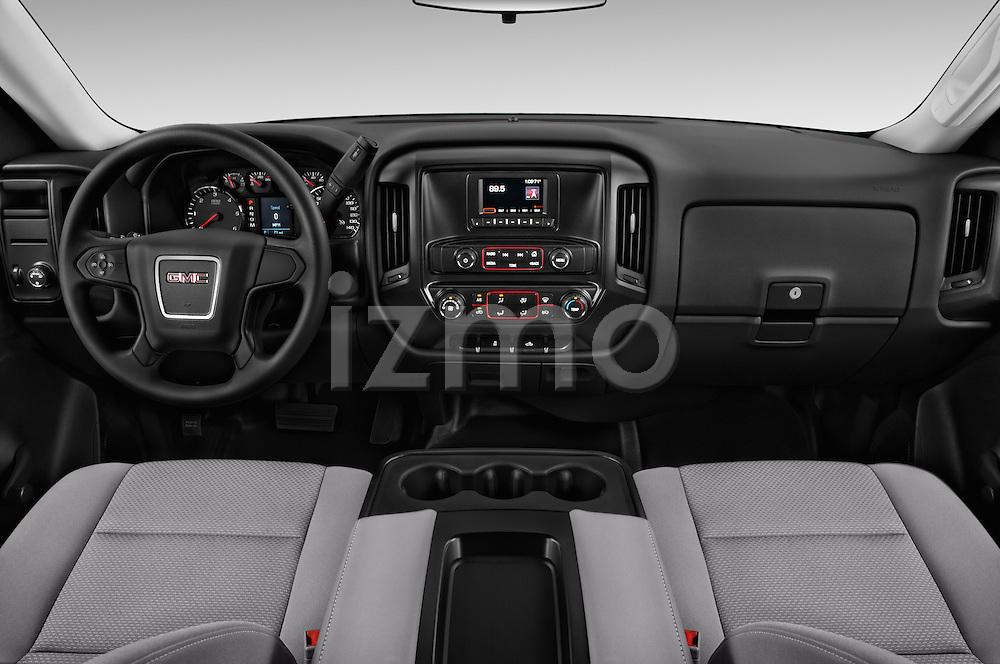 Stock photo of straight dashboard view of 2017 GMC Sierra-1500 Regular-Cab 2 Door Pickup Dashboard