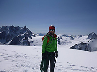 """Pictured: Andrew Foster during one of his previous trips.<br /> Re: A British climber was killed and his wife seriously injured living their """"big dream"""" on one of the toughest rock faces in the world.<br /> Andrew Foster, 32, and his wife Lucy, 28, were buried under tons of falling rock as they prepared for their climb.<br /> Experienced climber Andrew was killed but Lucy was rescued and airlifted to hospital where she was in a """"critical"""" condition.<br /> The couple were married a year ago and the three-week trip to the Yosemite National Park in California was part of their first wedding anniversary celebrations.<br /> They had ben training for the expedition for six months and flew off to the States on September 11 along with other members of their climbing club.<br /> Andrew and Lucy, from Cardiff, were scouting out a descent of the iconic rockface El Capitan when a """"sheet"""" of granite fell on them.<br /> Rangers on the national park beauty spot said a piece of granite 40 metres by 20 metres fell from a height of 200 metres while the couple were below.<br /> Patagonia, a company owned by Andrew Foster has confirmed the incident."""