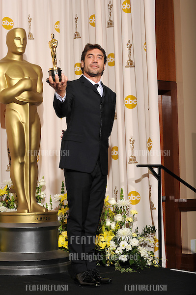 Javier Bardem at the 80th Annual Academy Awards at the Kodak Theatre, Hollywood..February 24, 2008 Los Angeles, CA.Picture: Paul Smith / Featureflash