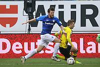 Peter Niemeyer (SV Darmstadt 98) gegen Marco Reus (Borussia Dortmund)- 11.02.2017: SV Darmstadt 98 vs. Borussia Dortmund, Johnny Heimes Stadion am Boellenfalltor