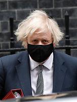 MAR 24 Boris Johnson leaves Downing Street for PMQs