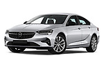 Stock pictures of low aggressive front three quarter view of 2021 Opel Insignia Ultimate 4 Door Sedan Low Aggressive
