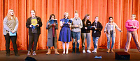 Marc Hayot/Herald Leader. Britney O'Brien (left), Hannah Green, Lily Tugwell, Isabelle Pennick, Molly Self, Sarah Watkins, Rylei, Wadsworth, Jeiry Aguilar, and Celeste Rosenberry sing a song from The Sound of Music