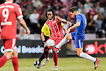 Bayern Munich Midfielder Renato Sanches (L) fights for the ball with Chelsea Midfielder Cesc Fabregas (R) during the International Champions Cup match between Chelsea FC and FC Bayern Munich at National Stadium on July 25, 2017 in Singapore. Photo by Marcio Rodrigo Machado / Power Sport Images