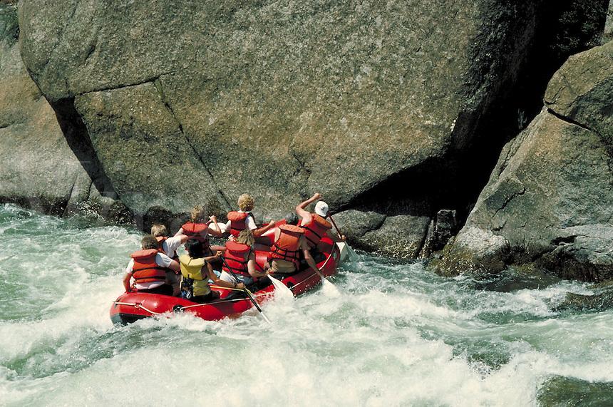 Friends (MR) river rafting in Browns Canyon, Arkansas River,near Buena Vista, CO. Buena Vista, Colorado.
