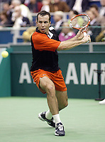 24-2-06, Netherlands, tennis, Rotterdam, ABNAMROWTT, Radek Stepanek in action against Novak Djokovic .
