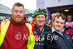 Circuit Of Munster; Stephen Faley, Ballylongford and Brendan O'Sullivan, Listowel pictured with Eugene Keane , Limerick at the circuit of Munster charity cycle in aid of Down Syndrrome Ireland on the cycles stop off in Listowel on Friday last.