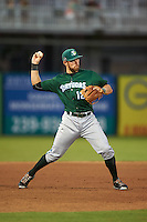 Daytona Tortugas third baseman Taylor Sparks (12) warmup throw to first during a game against the Fort Myers Miracle on June 18, 2015 at Hammond Stadium in Fort Myers, Florida.  Fort Myers defeated Daytona 4-1.  (Mike Janes/Four Seam Images)