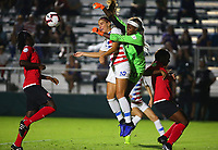 Cary, NC - October 10, 2018:  The USWNT defeated Trinidad & Tobago 7-0 during the group stage of the 2018 CONCACAF Women's Championship at WakeMed Soccer Park.