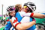 Evelyne Gagnon, Annie Bouchard, and Carla Shibley - Lima 2019. Para Cycling // Paracyclisme.<br /> Evelyne Gagnon, Annie Bouchard, and Carla Shibley competes in the road race // Evelyne Gagnon, Annie Bouchard, et Carla Shibley participe à la course sur route. 01/09/2019.