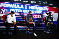 4th September 2021: Circuit Zandvoort, Zandvoort, Netherlands;   44 Lewis Hamilton GBR, Mercedes-AMG Petronas F1 Team, 33 Max Verstappen NED, Red Bull Racing, 77 Valtteri Bottas FIN, Mercedes-AMG Petronas F1 Team, F1 Grand Prix of the Netherlands at Circuit Zandvoort