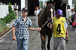 Keertana in the paddock before the 74th running of the G3 Louisville Handicap at Churchill Downs in Louisville, Kentucky on Saturday May 28, 2011.