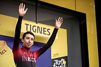 Egan Bernal (COL/Ineos) becomes the new GC leader. <br /> <br /> Stage 19: Saint-Jean-de-Maurienne to Tignes (126km)<br /> 106th Tour de France 2019 (2.UWT)<br /> <br /> ©kramon