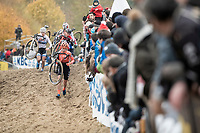 Inge Van der Heijden (NED) leading the way<br /> <br /> Women's Race<br /> UCI cyclocross WorldCup - Koksijde (Belgium)<br /> <br /> ©kramon
