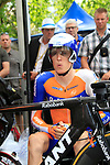 Robert Gesink (NED) Rabobank waits his turn during the Prologue of the 99th edition of the Tour de France 2012, a 6.4km individual time trial starting in Parc d'Avroy, Liege, Belgium. 30th June 2012.<br /> (Photo by Eoin Clarke/NEWSFILE)