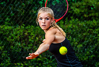 Hilversum, Netherlands, August 5, 2021, Tulip Tennis center, National Junior Tennis Championships 16 and 18 years, NJK, Chloé Lomans  (NED) girls single 16 years.<br /> Photo: Tennisimages/Henk Koster