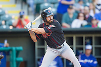 Nashville Sounds right fielder Kent Matthes (22) at bat against the Oklahoma City Dodgers at Chickasaw Bricktown Ballpark on April 15, 2015 in Oklahoma City, Oklahoma. Oklahoma City won 6-5. (William Purnell/Four Seam Images)