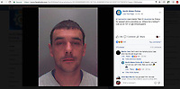 2017 09 14 Martin Tate taunts police on facebook, Wales, UK