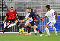 FORT LAUDERDALE, FL - DECEMBER 09: Paul Arriola #7 of the United States moves towards the goal during a game between El Salvador and USMNT at Inter Miami CF Stadium on December 09, 2020 in Fort Lauderdale, Florida.