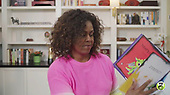 """In this screen grab Michelle Obama appears on """"Mondays with Michelle Obama"""" the PBS KIDS Read-Along series on April 27, 2020. (Photos by ON-SITEFOTOS)"""