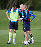 Mark Warburton and Rob Kiernan