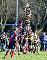 Saturday 4th February 2017 | RBAI vs BALLYCLARE HIGH SCHOOL<br /> <br /> Pierce McLernon during the Ulster Schools' Cup clash between RBAI and Ballyclare High School at  Cranmore Park, Belfast, Northern Ireland.<br /> <br /> Photograph by www.dicksondigital.com