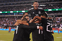 EAST RUTHERFORD, NJ - SEPTEMBER 7: Javier Hernandez #14 of Mexico celebrates his score with team mates during a game between Mexico and USMNT at MetLife Stadium on September 6, 2019 in East Rutherford, New Jersey.