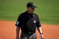 Umpire Lance Barksdale during a Major League Spring Training game between the Washington Nationals and New York Mets on March 18, 2021 at Clover Park in St. Lucie, Florida.  (Mike Janes/Four Seam Images)