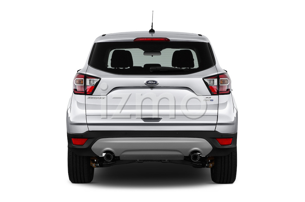 Straight rear view of 2018 Ford Escape SE 5 Door SUV Rear View  stock images