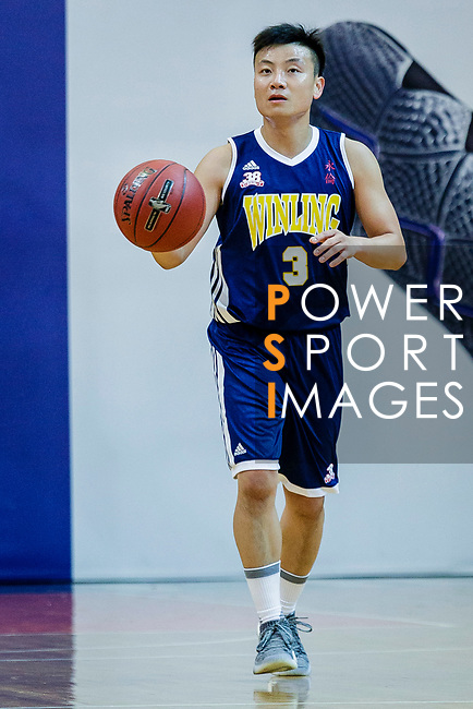 Liang Man Hung #3 of Winling Basketball Club in action during the Hong Kong Basketball League game between Eagle and Winling at Southorn Stadium on May 4, 2018 in Hong Kong. Photo by Yu Chun Christopher Wong / Power Sport Images