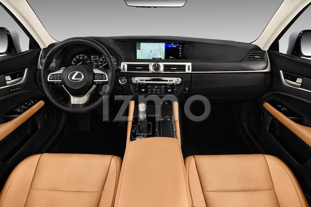 Stock photo of straight dashboard view of 2016 Lexus GS 200t 4 Door Sedan Dashboard