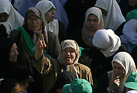 """Palestinian Hamas women supporters attend a rally in Gaza City, 25 September 2007. Thousands of Hamas supporters flocked to central Gaza City for a rally to reject a key Middle East peace conference in the United States, as the Islamists slammed Arab participation.(""""photo by Fady Adwan"""""""