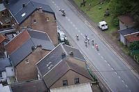 6 man breakaway group early in the race<br /> <br /> 101th Liège-Bastogne-Liège 2015