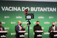SÃO PAULO, SP, 31.05.2021 - COVID-19-SP - Dimas Covas, Diretor do Instituto Butantan, participa de apresentação de informações sobre o combate ao coronavírus (COVID-19) em São Paulo, no Instituto Butantan, nesta segunda-feira, 31. (Foto Charles Sholl/Brazil Photo Press)