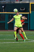 Rochester, NY - Saturday July 09, 2016: Seattle Reign FC defender Kendall Fletcher (13) during a regular season National Women's Soccer League (NWSL) match between the Western New York Flash and the Seattle Reign FC at Frontier Field.