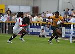 Ratu Nasiganiyavi breaks away from England's Noah Cato. England U20 V Australia U20. IRB Junior Rugby World Cup 2008© Ian Cook IJC Photography iancook@ijcphotography.co.uk www.ijcphotography.co.uk.