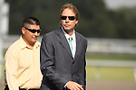 Trainer Dallas Stewart in the Turfway Park paddock for The Kentucky Cup Distaff (grIII). 09.26.2009.