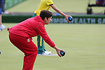 Glasgow 2014 Commonwealth Games<br /> <br /> Lisa Forey (Wales) competing in the lawn bowls women's triples.<br /> <br /> 30.07.14<br /> ©Steve Pope-SPORTINGWALES