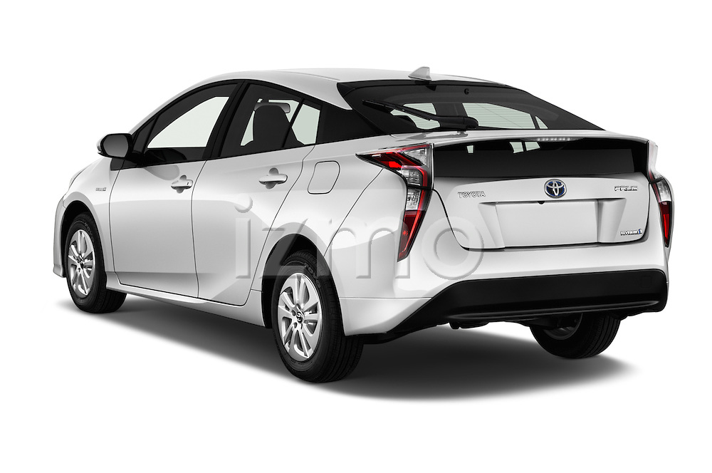 Car pictures of rear three quarter view of 2016 Toyota Prius Comfort 5 Door Hatchback Angular Rear