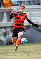 WASHINGTON, DC - NOVEMBER 25, 2012: Jordan Vale (2) of Syracuse University during an NCAA championship round of sixteen match against Georgetown at North Kehoe field, in Georgetown, Washington DC on November 25.