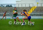 Anna Clifford, Kerry in action against Aisling Morrissey, Clare in the Lidl Ladies National Football League Division 2A Round 2 at Austin Stack Park, Tralee on Sunday.