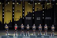 Team Jumbo-Visma at the pre Tour teams presentation of the 108th Tour de France 2021 in Brest at le Grand Départ.