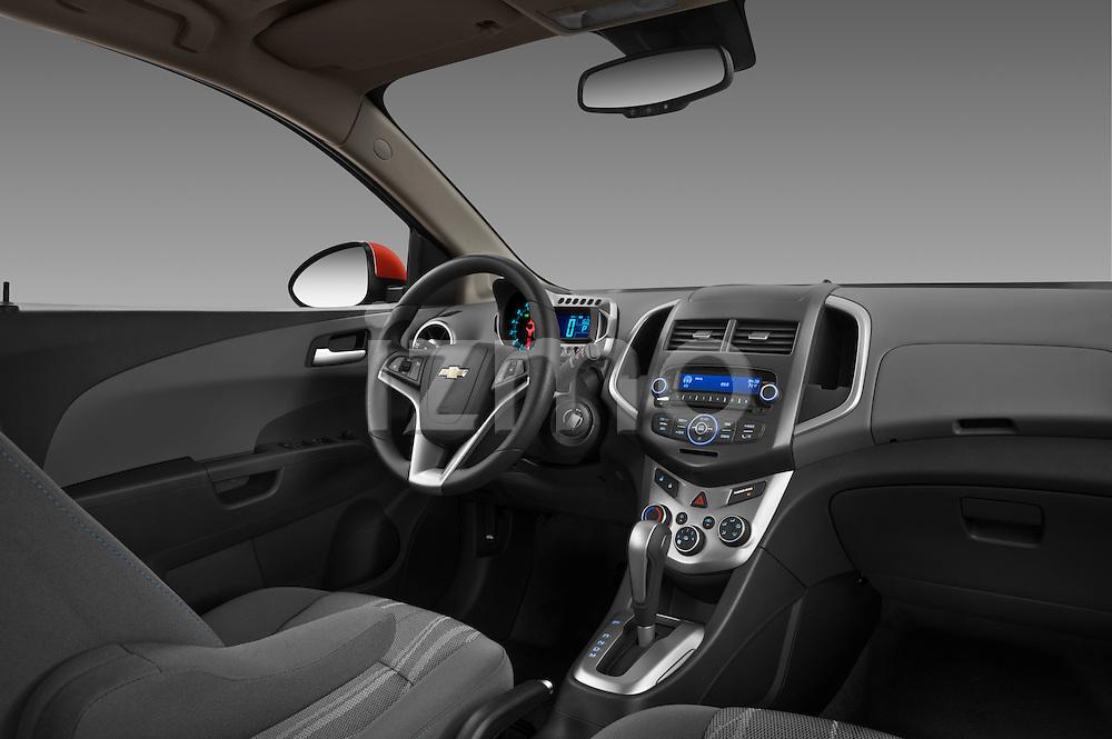 Passenger side  dashboard view of a 2013 Chevrolet Sonic LT 5 Door .