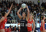 New Zealand's Maia Wilson in action during todays match   <br /> <br /> Swansea University International Netball Test Series: Wales v New Zealand<br /> Ice Arena Wales<br /> 08.02.17<br /> ©Ian Cook - Sportingwales