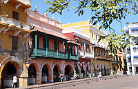CARTAGENA-COLOMBIA-09-01-2013. Arquitectura Colonial en la Ciudad Amurallada de Cartagena de Indias, Colombia. Colonial architecture in the walled city of Cartagena de Indias, Colombia. (Photo: VizzorImage)....