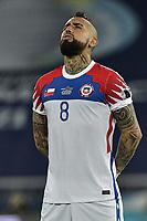 2nd July 2021; Nilton Santos Stadium, Rio de Janeiro, Brazil; Copa America, Brazil versus Chile; Arturo Vidal of Chile as the match starts