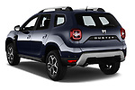Car pictures of rear three quarter view of a 2018 Dacia Duster Duster 5 Door SUV angular rear